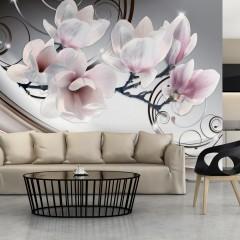 Basera® Selbstklebende Fototapete Magnoliamotiv b-A-0222-a-d, mit UV-Schutz