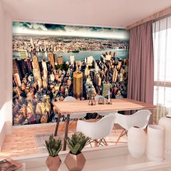 Selbstklebende Fototapete - Bird's Eye View of New York