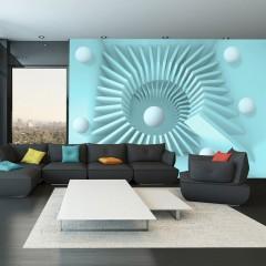 Selbstklebende Fototapete - Blue maze