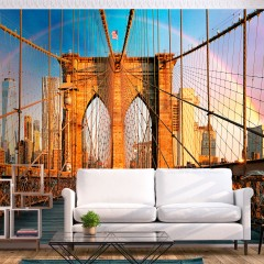 Basera® Selbstklebende Fototapete Motiv New York d-B-0254-a-a, mit UV-Schutz