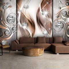Selbstklebende Fototapete - Brown and Diamonds