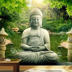 Selbstklebende Fototapete - Buddhas Garten