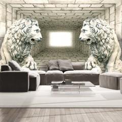 Selbstklebende Fototapete - Chamber of lions