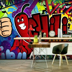 Basera® Selbstklebende Fototapete Street Art-Motiv i-A-0114-a-a, mit UV-Schutz