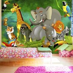 Selbstklebende Fototapete - Colourful Safari