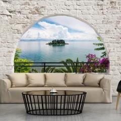 Basera® Selbstklebende Fototapete mediterranes Motiv c-A-0051-a-c, mit UV-Schutz