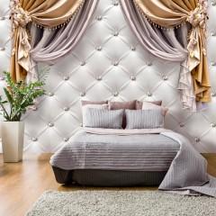 Selbstklebende Fototapete - Curtain of Luxury