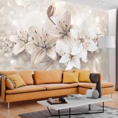 Selbstklebende Fototapete - Diamond Lilies