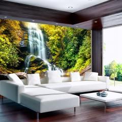 Basera® Selbstklebende Fototapete Fluss- & Wasserfallmotiv 10110903-42, mit UV-Schutz