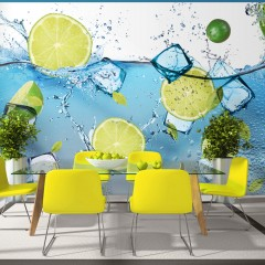 Basera® Selbstklebende Fototapete Küchenmotiv 10110908-1, mit UV-Schutz
