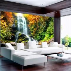 Basera® Selbstklebende Fototapete Fluss- & Wasserfallmotiv 10110903-43, mit UV-Schutz