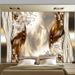 Basera® Selbstklebende Fototapete Lilienmotiv a-A-0210-a-b, mit UV-Schutz