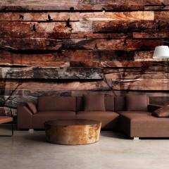 Basera® Selbstklebende Fototapete Holzmotiv f-A-0384-a-c, mit UV-Schutz