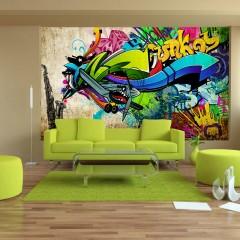 Selbstklebende Fototapete - Funky - graffiti