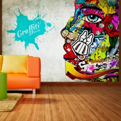 Selbstklebende Fototapete - Graffiti beauty