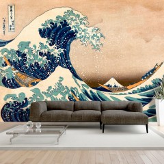 Selbstklebende Fototapete - Hokusai: The Great Wave off Kanagawa (Reproduction)