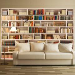 Selbstklebende Fototapete - Home library