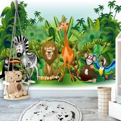 Selbstklebende Fototapete - Jungle Animals