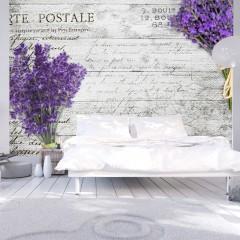 Selbstklebende Fototapete - Lavender postcard