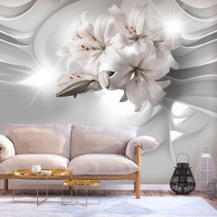 Basera® Selbstklebende Fototapete Lilienmotiv b-C-0203-a-a, mit UV-Schutz