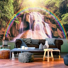 Basera® Selbstklebende Fototapete Fluss- & Wasserfallmotiv c-C-0007-a-d, mit UV-Schutz