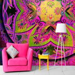 Selbstklebende Fototapete - Mandala: Pink Expression