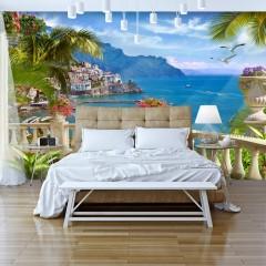 Basera® Selbstklebende Fototapete mediterranes Motiv c-B-0101-a-a, mit UV-Schutz