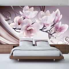 Basera® Selbstklebende Fototapete Magnoliamotiv b-A-0222-a-c, mit UV-Schutz