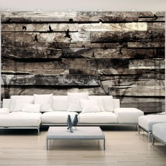 Basera® Selbstklebende Fototapete Holzmotiv f-A-0384-a-d, mit UV-Schutz