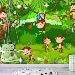 Selbstklebende Fototapete - Monkey Tricks