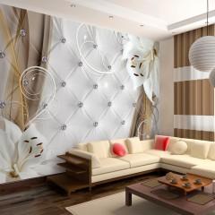Basera® Selbstklebende Fototapete Lilienmotiv b-A-0233-a-b, mit UV-Schutz