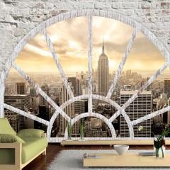 Selbstklebende Fototapete - New York - die Stadt am Morgen