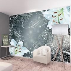 Selbstklebende Fototapete - Oriental Wings (Grey)