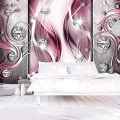 Selbstklebende Fototapete - Pink and Diamonds