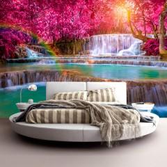 Selbstklebende Fototapete - Pink Cascades