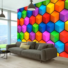Selbstklebende Fototapete - Rainbow Geometry