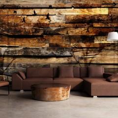 Basera® Selbstklebende Fototapete Holzmotiv f-A-0384-a-b, mit UV-Schutz