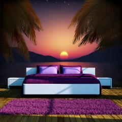 Selbstklebende Fototapete - Romantic evening on the beach