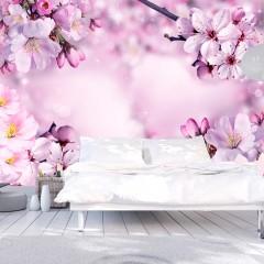 Basera® Selbstklebende Fototapete Kirschblütenmotiv b-A-0236-a-c, mit UV-Schutz