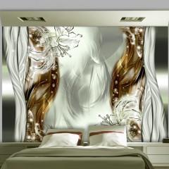 Basera® Selbstklebende Fototapete Lilienmotiv a-A-0210-a-d, mit UV-Schutz