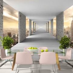 Selbstklebende Fototapete - Skyward Corridor