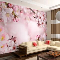 Basera® Selbstklebende Fototapete Kirschblütenmotiv b-A-0236-a-b, mit UV-Schutz