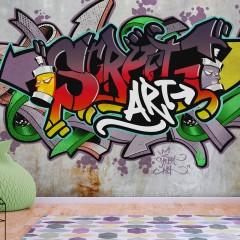 Basera® Selbstklebende Fototapete Street Art-Motiv i-A-0158-a-d, mit UV-Schutz