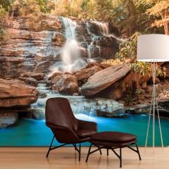 Basera® Selbstklebende Fototapete Fluss- & Wasserfallmotiv c-B-0141-a-c, mit UV-Schutz