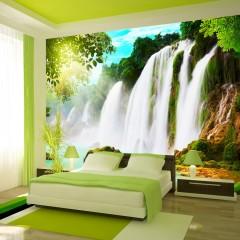 Basera® Selbstklebende Fototapete Fluss- & Wasserfallmotiv c-A-0026-a-a, mit UV-Schutz