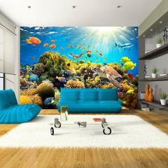 Selbstklebende Fototapete - Underwater Land