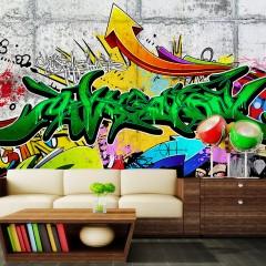 Basera® Selbstklebende Fototapete Street Art-Motiv f-A-0368-a-b, mit UV-Schutz