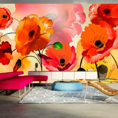 Selbstklebende Fototapete - Velvet poppies