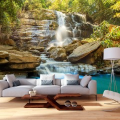 Selbstklebende Fototapete - Waterfall in Chiang Mai, Thailand