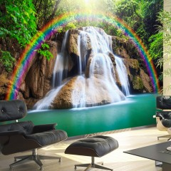 Basera® Selbstklebende Fototapete Fluss- & Wasserfallmotiv c-C-0007-a-b, mit UV-Schutz